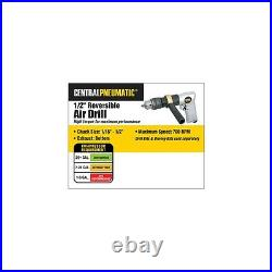 1/2 Reversible Air Drill 700 RPM 90 Psi Auto Body Metal Wood Working Heavy Duty