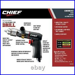 1/2 Reversible Air Drill Professional Adjustable Handle For Drilling Reaming