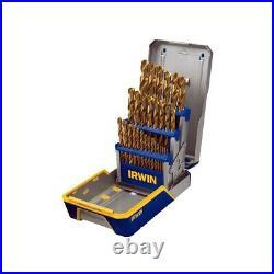 29 Pc. Titanium Metal Index Drill Bit Set Irwin / Hanson / Vise Grip IRW3018003