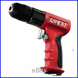 AIRCAT 4338 3/8-Inch Red Composite Reversible Power Drill With Jacobs Chuck