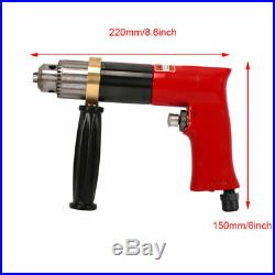 Air Drill Reversible Pneumatic Power Tool For Drilling 500RPM Pistol Type 1/2'
