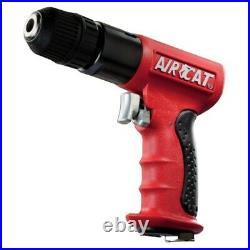 Aircat 3/8 Drive Reversible Red Composite Drill with Jacobs Chuck 1800 RPM 4338