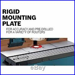 Bosch RA1181 Aluminum Mounting Plate Benchtop Router Table MDF Face Plates