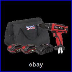 CP20VDDKIT Sealey Hammer Drill/Driver Kit 13mm 20V 2 Batteries Drills