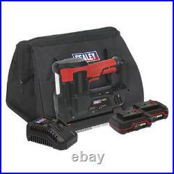 CP20VNGKIT Sealey 20V 18G Cordless Staple/Nail Gun Kit 2 Batteries & Carry Bag