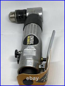 Central Pneumatic 3/8 Reversible Air Angle Drill Air Powered 1800 RPM T62