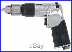 Chicago Pneumatic 0.5 HP Industrial Duty Keyed Air Drill, Pistol Style, 3/8