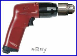 Chicago Pneumatic 1.0 HP Industrial Duty Keyed Air Drill, Pistol Style, 3/8