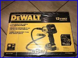 DeWALT DCT410S1 12V Color Pipe Wall Inspection LCD Camera Kit 12 Volt MAX NIB