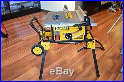 Dewalt DWE7491RS 10 in. Jobsite Table Saw with Rolling Stand (G3) LOCAL PICKUP