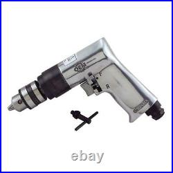Keyed 3/8 In. Reversible Air Drill Power Tool Aluminum Garage