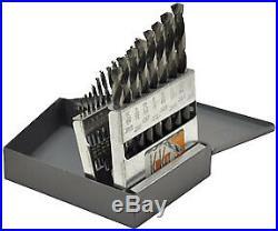 KnKut 21 Pc. 1/16-3/8 Fractional Jobber Length Drill Bit Set