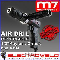 M7 Air Drill 1/2 Keyless Chuck Reversible Pneumatic Q-Series Mighty 7 M7-QE841