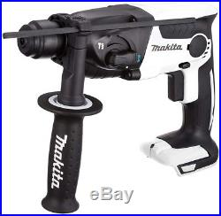 Makita with rechargeable hammer drill 18V white body case HR165DZKW