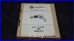Master Power 1/4 AIR DRILL, 2350 RPM, P/N 1488 NOS