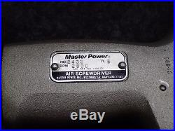 Master Power 2432 / 2800RPM Air Screwdriver with Reversible Clutch