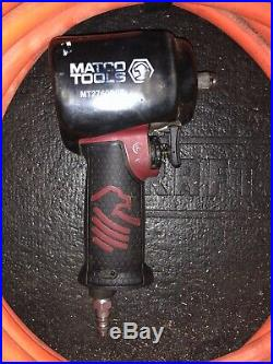 Matco Tools Air Impact 3/8 Drive With Boot And 50ft Tangle Free Air Hose Orange