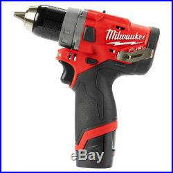 Milwaukee 2503-22 12-Volt 1/2-Inch 4.0Ah M12 FUEL Drill Driver Kit