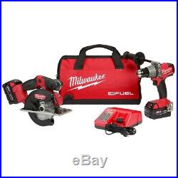 Milwaukee 2898-22 M18 FUEL 18-Volt Lithium-Ion Brushless Cordless Hammer Drill