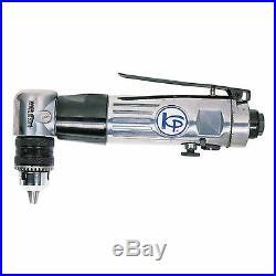 New 90º Degree 3/8 Chuck 1,800 RPM Air Angle Drill 10mm Reversible KP-504A