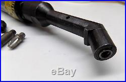 Pan Am Small 45 Degree 1/4-28 Pneumatic Angle Drill With Extra Aircraft Tools