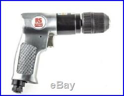 RS Pro REVERSIBLE AIR DRILL APT401R 3/8/10mm Keyless Chuck, Positive Trigger