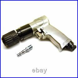 Reversible Air Drill 10mm 3/8 Keyless Chuck Pistol Angle Drill SIL05