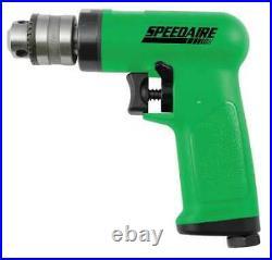 SPEEDAIRE 10D234 Drill, Air-Powered, Pistol Grip, 1/4 in