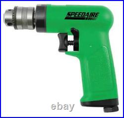 SPEEDAIRE 10D240 Drill, Air-Powered, Pistol Grip, 3/8 in