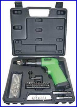SPEEDAIRE 12V744 Drill, Air-Powered, Pistol Grip, 1/4 in