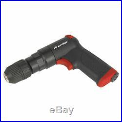 Sealey SA620 Air Pistol Drill with 10mm Keyless Chuck Super-duty