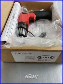 Sioux Tools SDR6P40N3 3/8 4000RPM. 6HP AIR DRILL Aircraft Tools