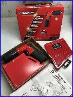 Snap-on 1/4 Capacity Micro Reversible Air Drill With 13 Pc Bit Set PDR2501bits