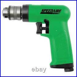 Speedaire 10D240 Air Drill, Industrial, Pistol, 3/8 In