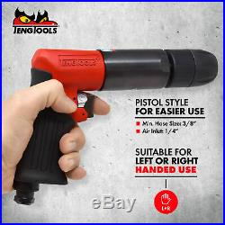 Teng Tools Pistol Style 13MM Chuck 450 RPM Reversible Air Drill ARD13
