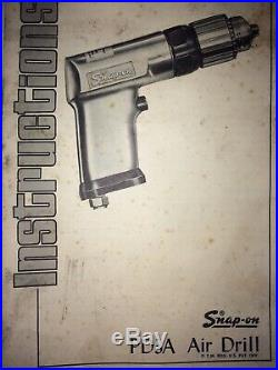 Vintage Snap-On PD3A 3/8 Heavy Duty Pneumatic Drill. Made In The USA! New