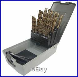 WESTWARD 6PTC7 Jobber Length Drill Bit Set, 29 pcs